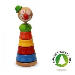 Jouet empilable clown en bois