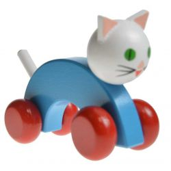 Chat à pousser corp bleu