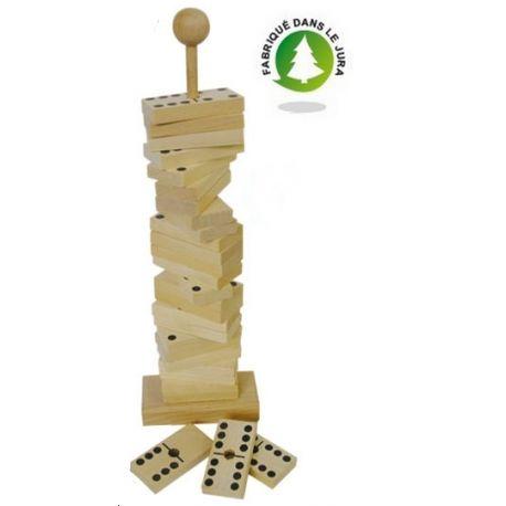 Domino tige hêtre vernis h 27 cm
