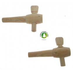 Robinet 2.5 pouces en buis Ht 6 cm