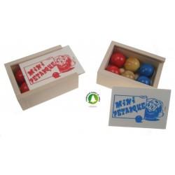 Boite mini boules de pétanques
