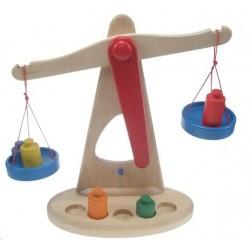 Balance en bois 24 x 9 Ht 24 cm