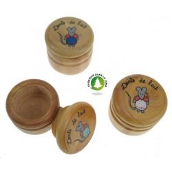 Boite à dents diamètre 34 mm décorée