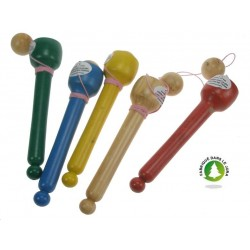 Bilboquet main Ht 15 en buis naturel