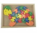 Puzzle tortue alphabet et chiffres