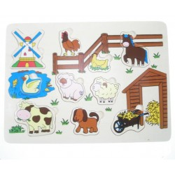 Puzzle animaux de la ferme 30 x 22