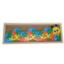 Puzzle chenille alphabet et chiffre