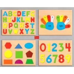Sac de 4 puzzles educatifs