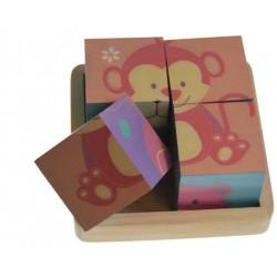Puzzle 4 cubes dans barquettes