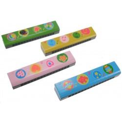 Harmonica 4 modèles assortis 13 cm