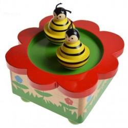 Boîte à musique toupie dansantes abeilles