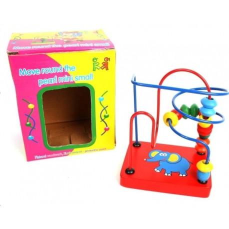 Boulier double jeu en bois multicolore
