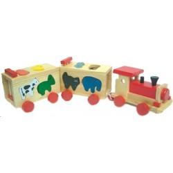 Train locomotive forme animaux