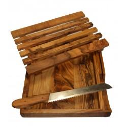 Planche à pain avec couteau en olivier