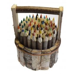 Baquet de 60 crayons écorces
