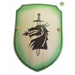 Bouclier bombée dragon vert