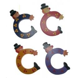 Lettre clown C couleur assortis