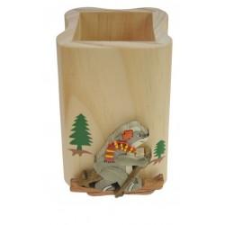 Pot à crayon carré Marmotte