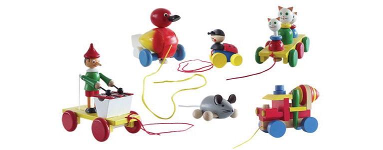 jouets à trainer en bois artisanat français fabrication